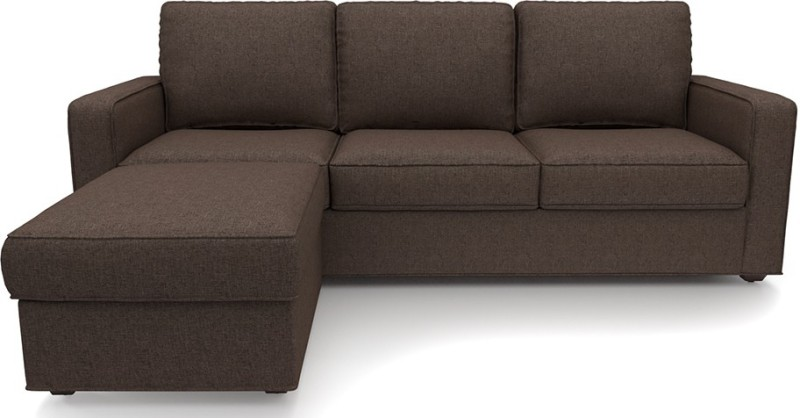 Urban Ladder Apollo Compact Fabric 3 + 1 Mocha Sofa Set
