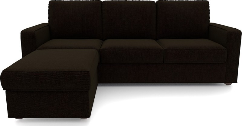 Urban Ladder Apollo Fabric 3 + 1 Dark Earth Sofa Set