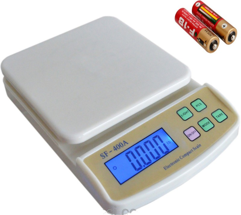 billion DEAL Advanced SF 400A 7 Kg With AA Batteries Digital Household Use And Backlight Weighing Scale(White)