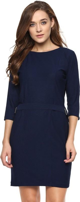 Miss Chase Women's Bodycon Dark Blue Dress