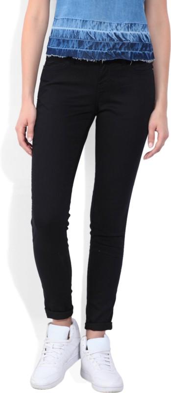 1. Wrangler Skinny Women Black Jeans