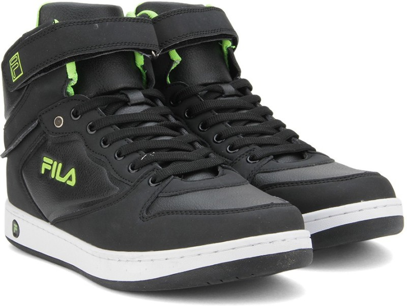 Fila ROBERTO Mid Ankle Sneakers For Men(Black)