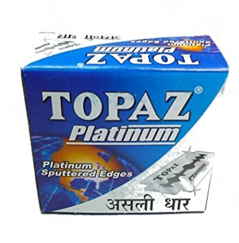 Topaz 150 pcs Razor's Blades Platinum Sputtered Edges (10 tucks of 10 blades each)(Pack of 150)