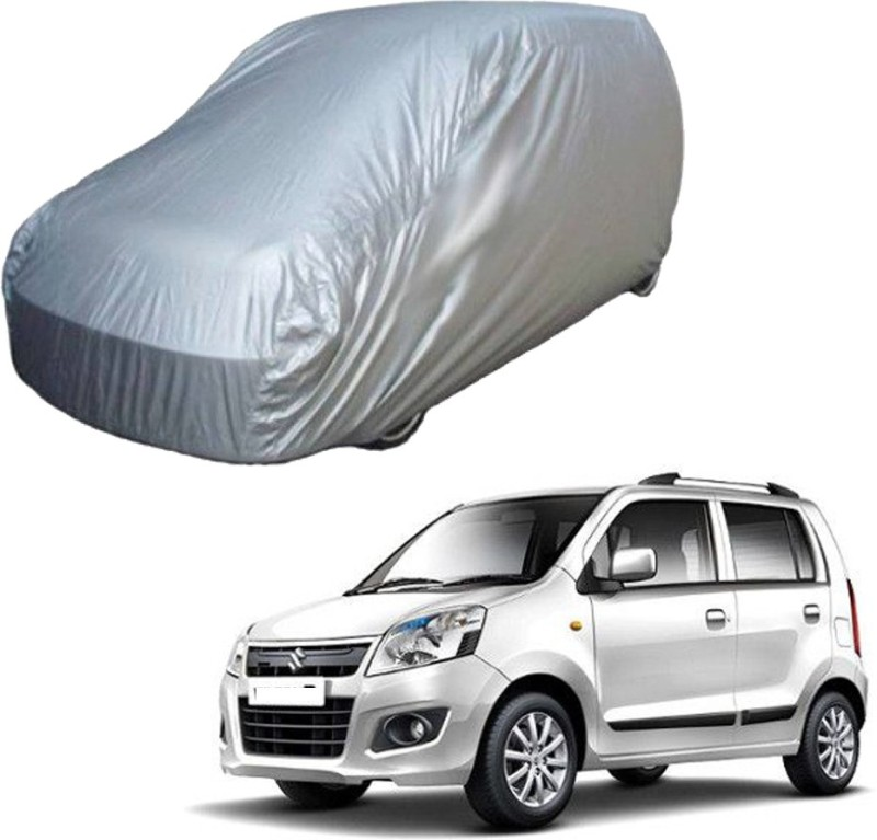 AutoKraftZ Car Cover For Maruti Suzuki WagonR (Without Mirror Pockets)(Silver)