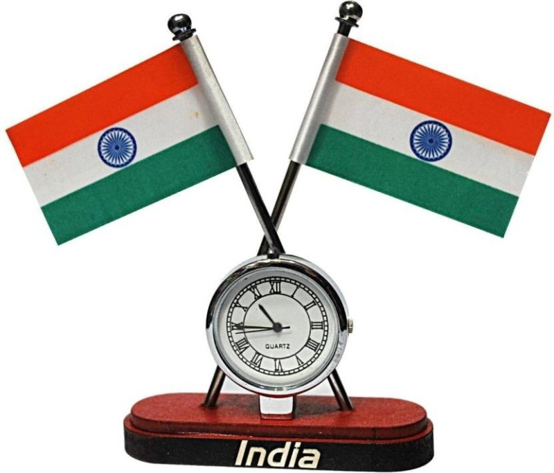 Ganpati Enterprises INDIA Double Sided Wind Car Dashboard Flag Flag(Nylon)