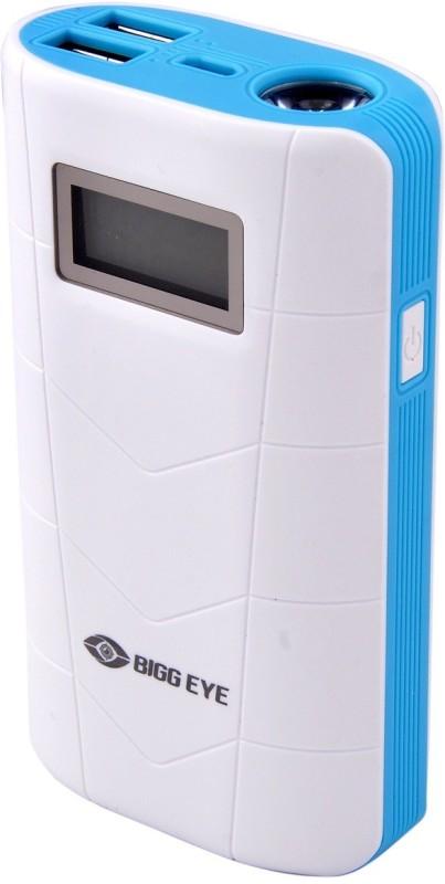 Bigg Eye PB-02 Digital Display High Quality Portable 10000 mAh Power Bank(White, Blue, Lithium-ion)