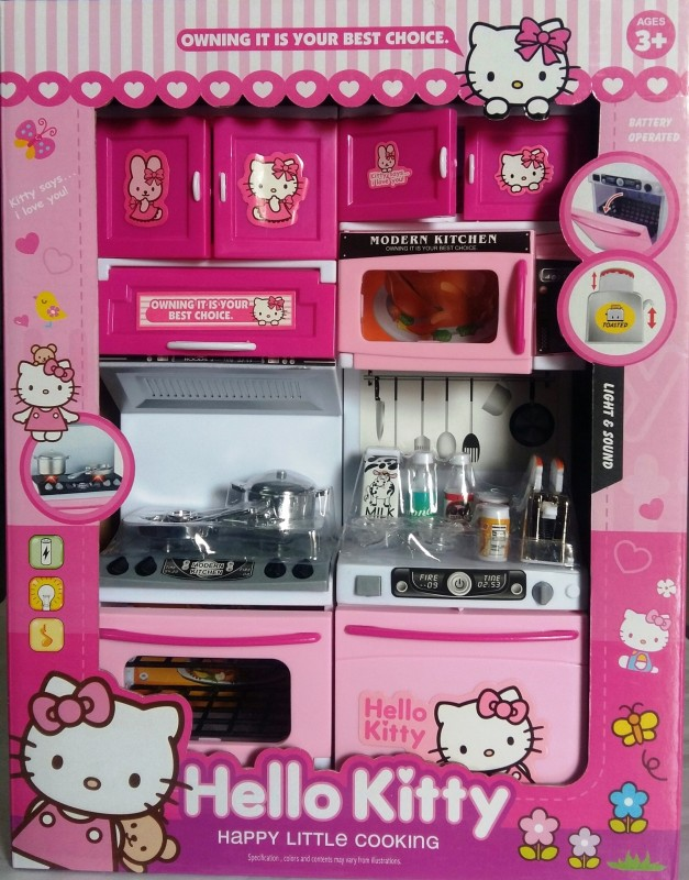 Amayra Toy Battery Operated Hello kitty Modular Kitchen Set For kIds