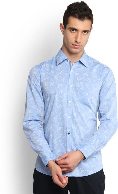 Blackberrys Men's Self Design Casual Shirt