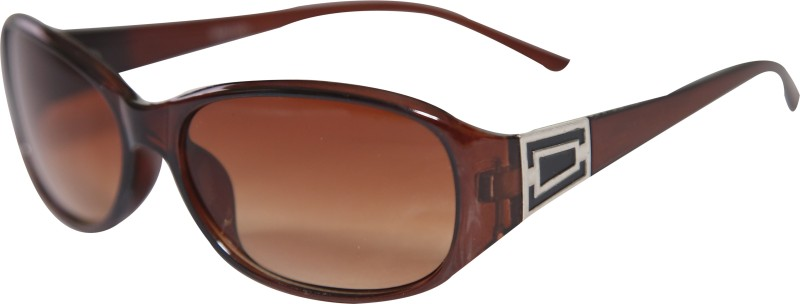 Online World Oval Sunglasses(Brown) image