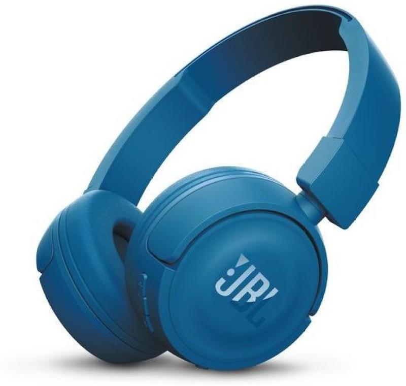JBL T450BT Headphone(Blue, On the Ear)