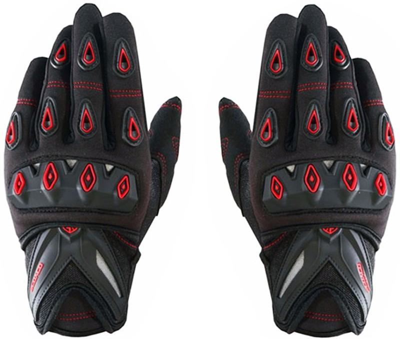 Scoyco MC10 Full Fingered Bike Riding set of 2 Driving Gloves (L, Black, Red)