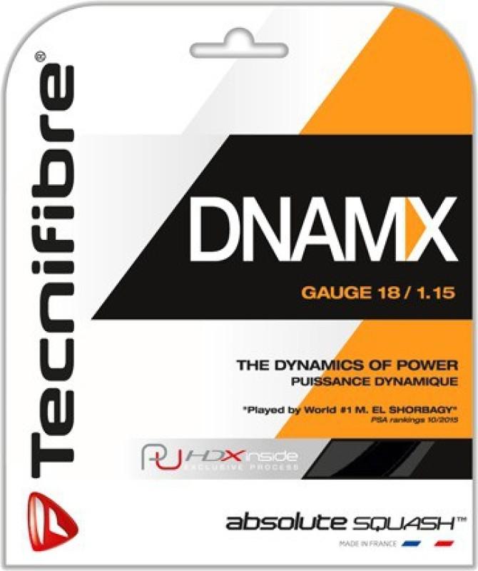 Tecnifibre DYNAMIX 17 GAUGE 17 / 1.20 1.25 Squash String - 10 m(Multicolor)