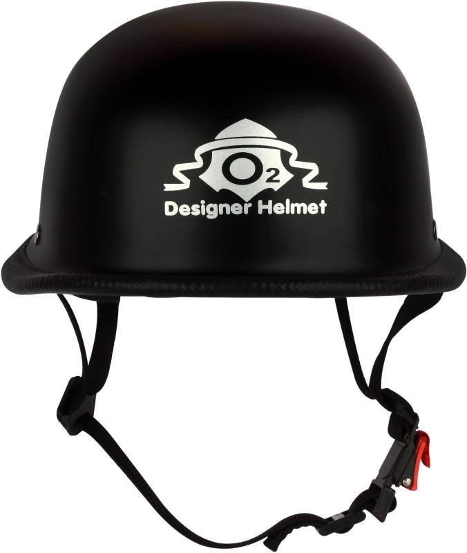 O2 German Hat Motorsports Helmet(Black)