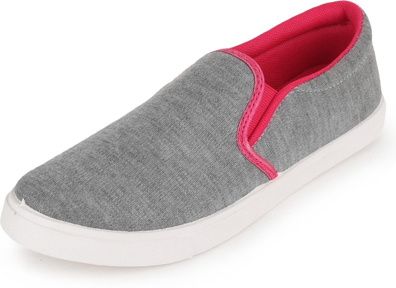 Scantia G12_B-GRY-PNK Loafers(Grey, Pink)