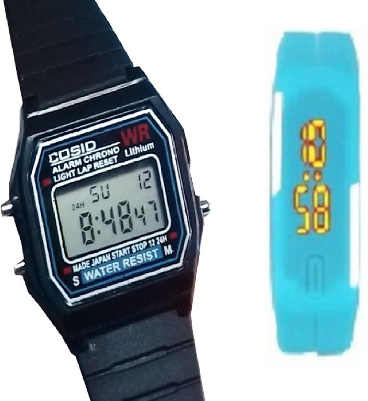 Fashion Gateway Digital Sports Watch with Timer, Stop Watch, Light, second and minute Count for Boys and Girls Black::Blue Digital Watch - For Boys & Girls