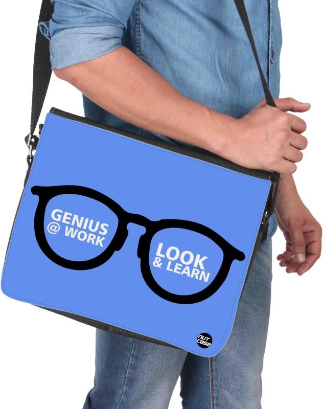 Nutcaseshop 14 inch Expandable Laptop Messenger Bag(Multicolor)
