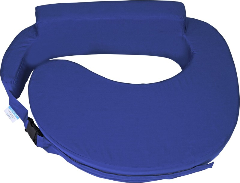 Comfeed By Nina Foam Solid Feeding/Nursing Pillow(Blue)