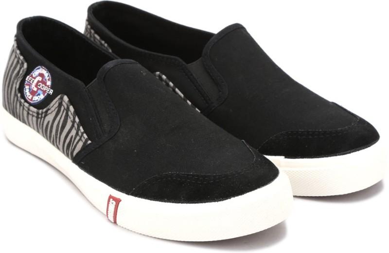 Lee Cooper Canvas Loafers For Men(Black, Grey)