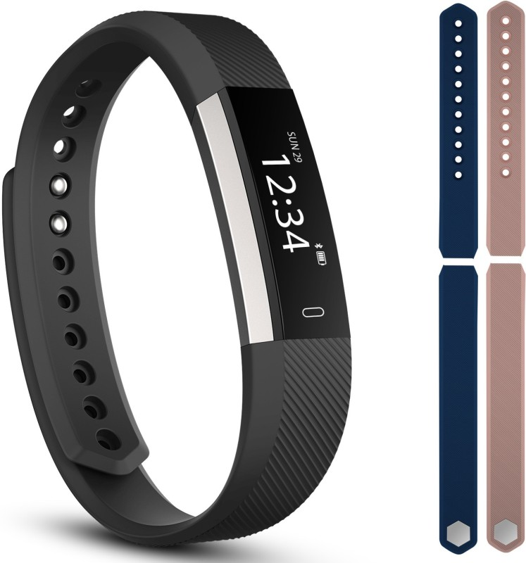 fbandz ID115-2STREP Fitness Smart Band(Blue, Pink Strap, Size : Regular)