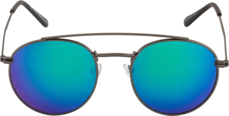 Suiss Blanc Oval Sunglasses(Blue) image