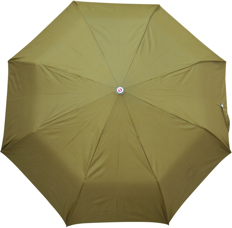 Asera 3 Fold Manual Open Plain Umbrella(Mehndi)