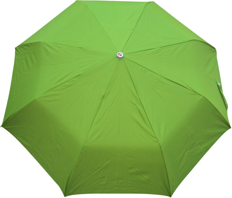 Asera 3 Fold Manual Open Plain Umbrella(Parrot Green)