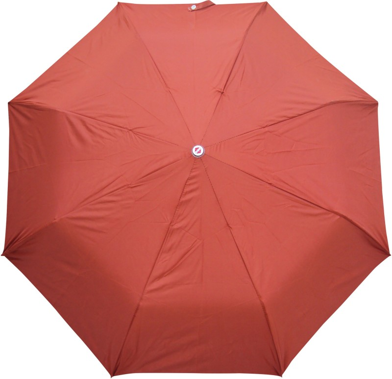 Asera 3 Fold Manual Open Plain Umbrella(Rust)
