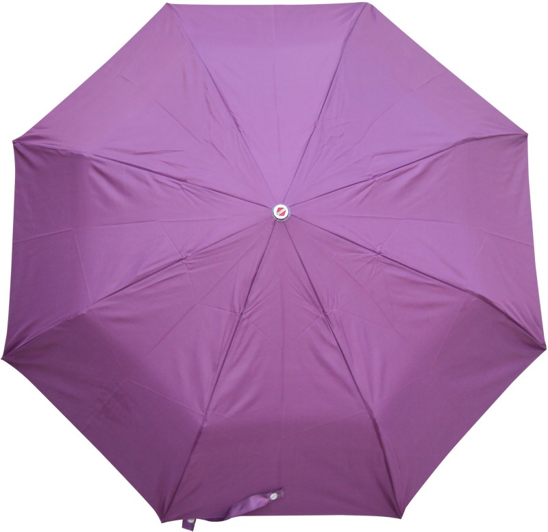 Asera 3 Fold Manual Open Plain Umbrella(Purple)