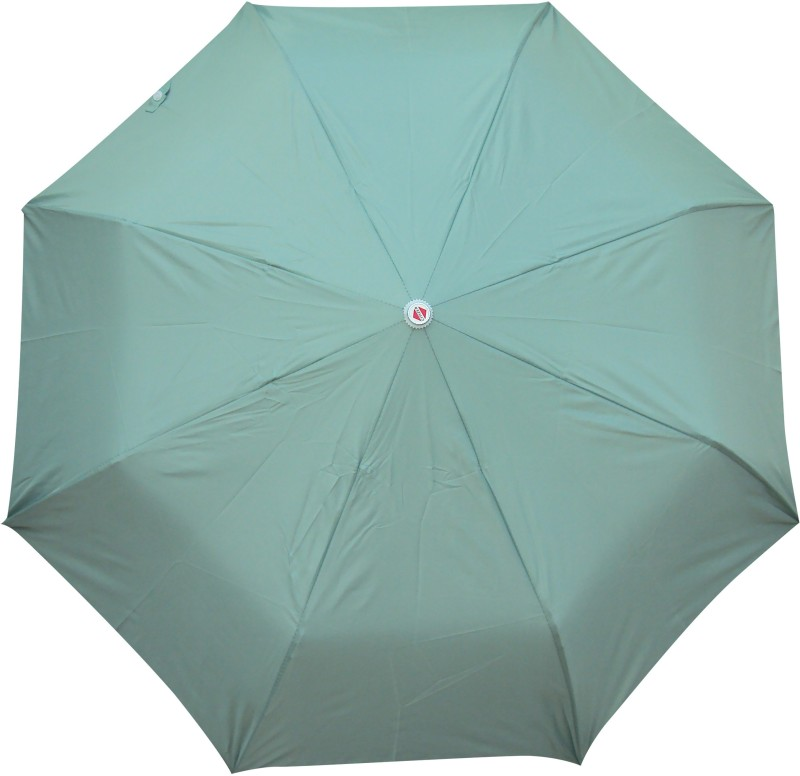 Asera 3 Fold Manual Open Plain Umbrella(Green)