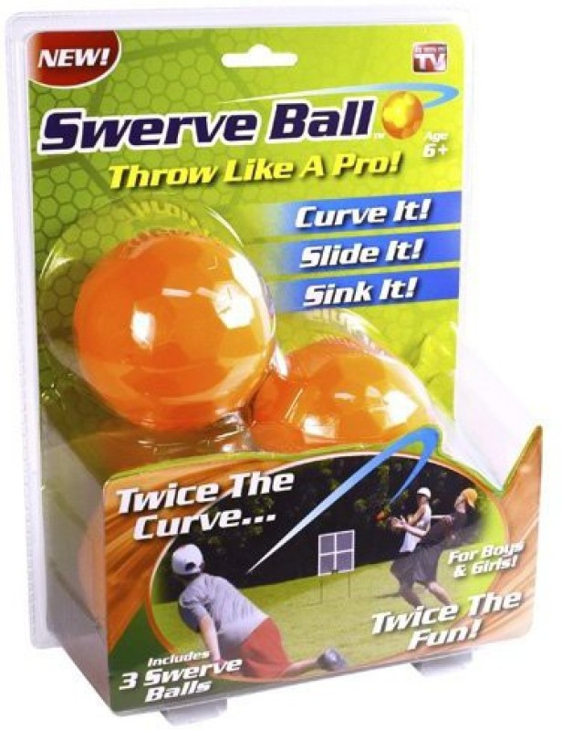 SWERVE BALL SWERVE BALL Jumping Ball - Size: 5(Pack of 3, Orange)