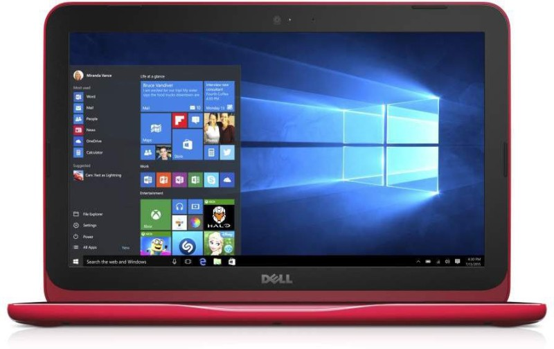 Dell Inspiron Celeron Dual Core - (2 GB/32 GB EMMC Storage/Windows 10 Home) 3162 Notebook(11.6 inch, Red, 1.2 kg)