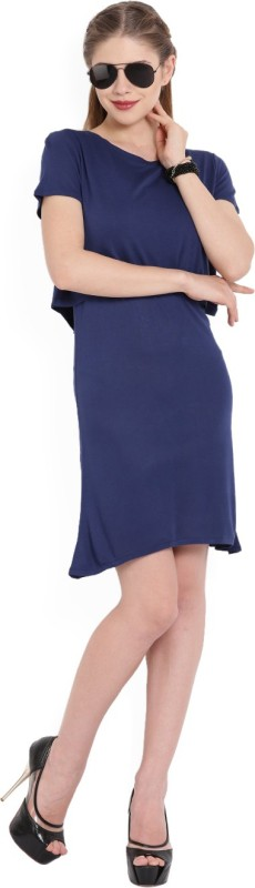 United Colors of Benetton Womens Layered Dark Blue Dress