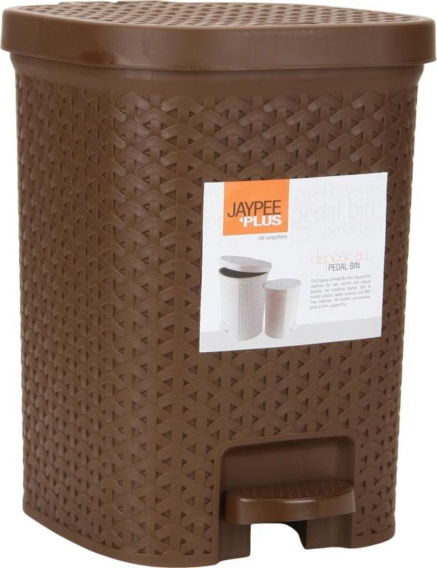 Jaypee Plus Dispose All Square Plastic Dustbin(Brown)