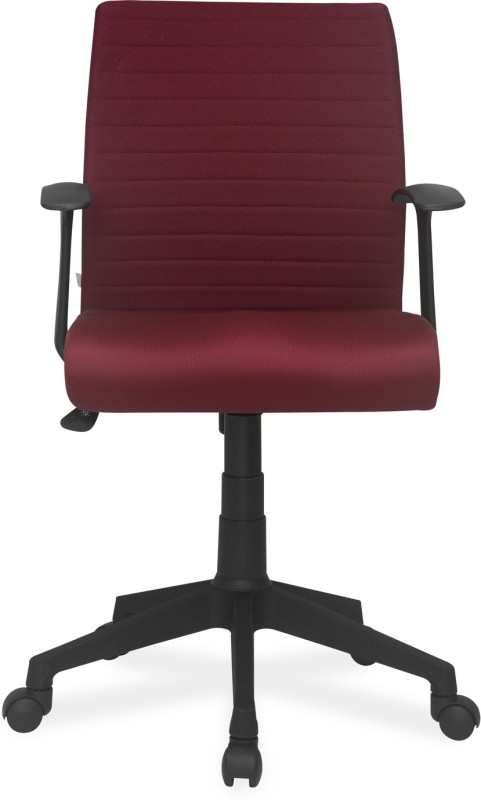 Nilkamal Thames Fabric Office Arm Chair(Maroon)