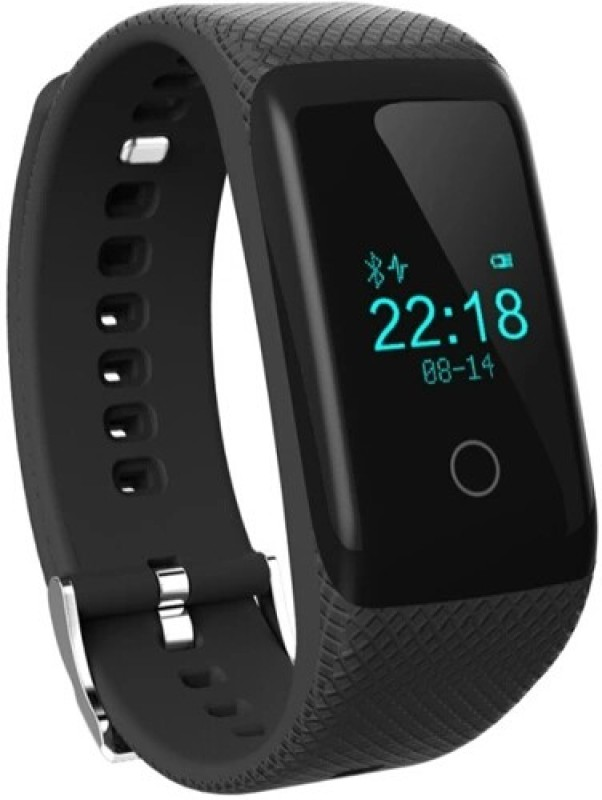 Flipfit SMART WATCH HEART RATE MONITOR BLUETOOTH CALL NOTIFICATION 3D Pedometer Calorie Monitor band tracker touch button Fitness Band(Black)