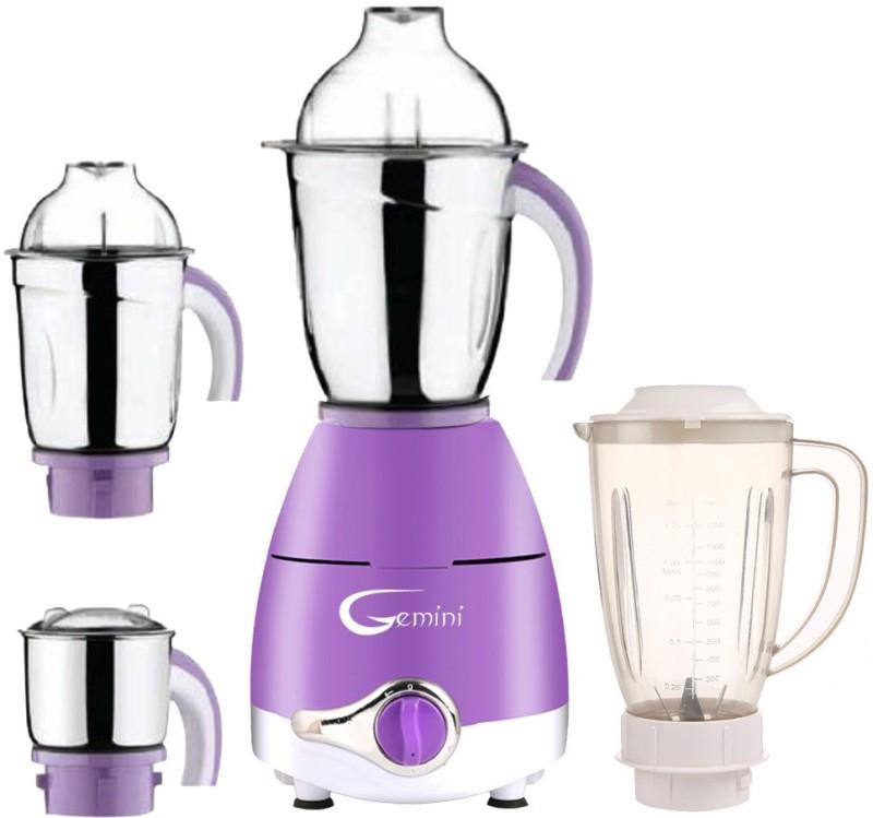 Gemini ABS Plastic LPMA17_391 1000 W Juicer Mixer Grinder(Lavender, 4 Jars)