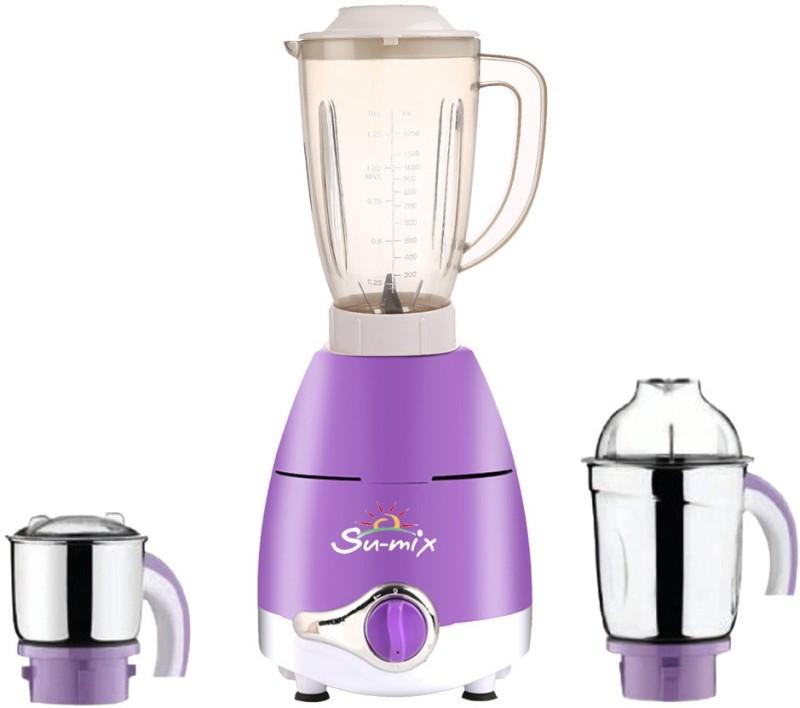 Su-mix ABS Plastic LPMA17_372 1000 W Juicer Mixer Grinder(Lavender, 3 Jars)