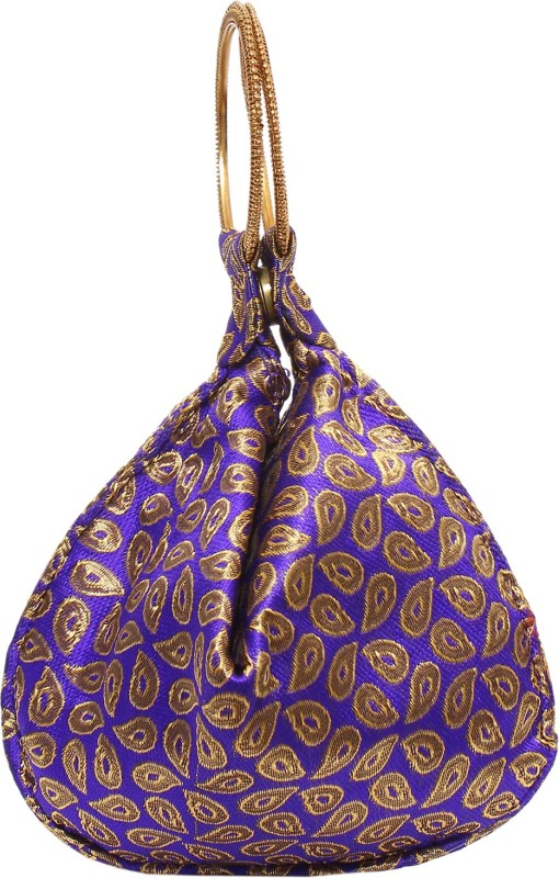 Bagaholics Ethnic Silk Potli Batwa Pouch Potli(Purple)