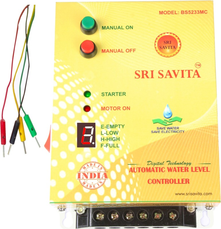 sri savita Fully automatic water level controller BS5233 yellow Wired Sensor Security System