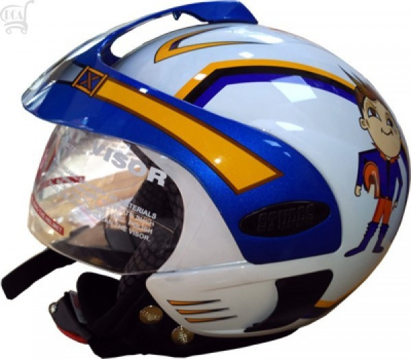 Studds Marshall Kids Motorbike Helmet(White)