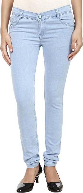 Ico Blue Star Slim Women Blue Jeans