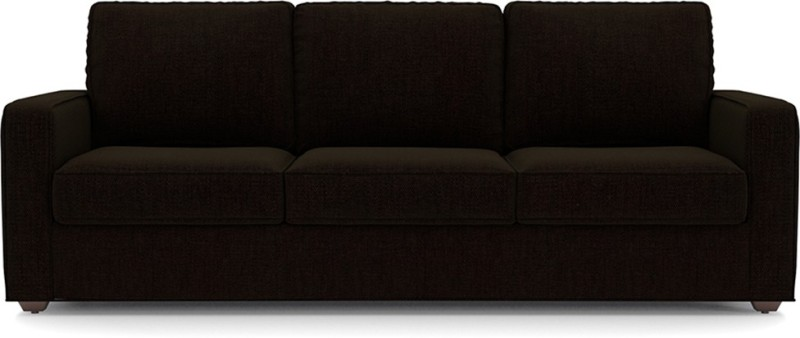 Urban Ladder Apollo Fabric 3 + 2 + 1 + 1 Dark Earth Sofa Set