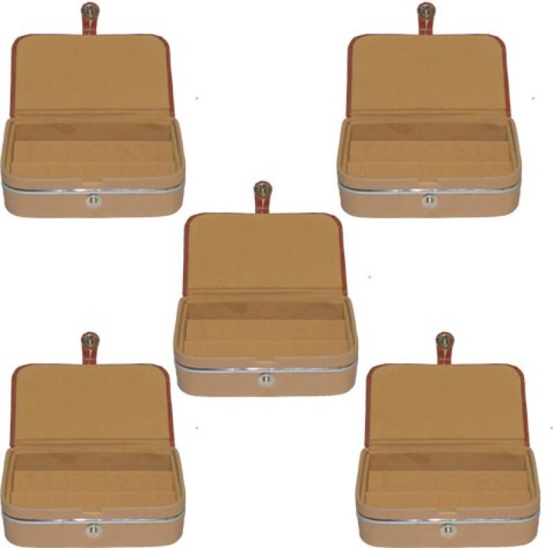 Aadhya Ear ring folder pack of 5 Multipurpose Vanity Box(Brown)