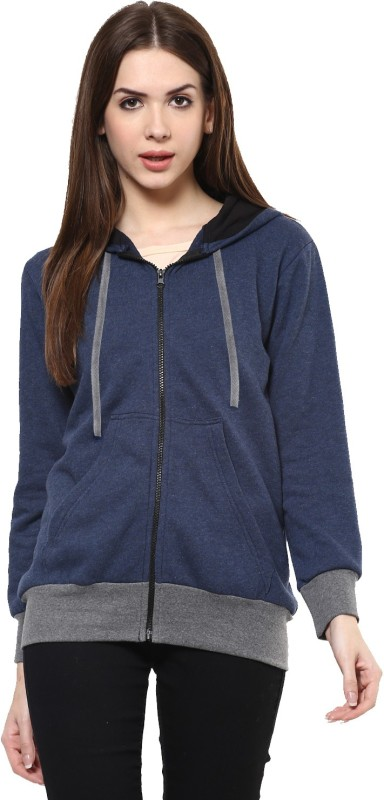 Pannkh Full Sleeve Solid Women's Sweatshirt