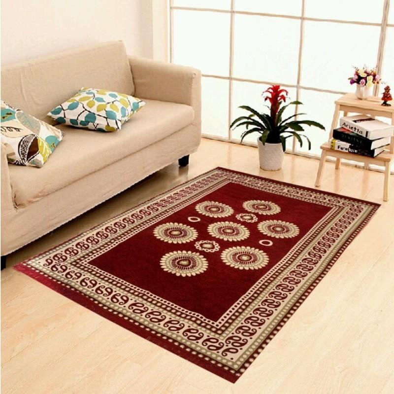 home BEST Multicolor Chenille Carpet(152 cm  X 212 cm)