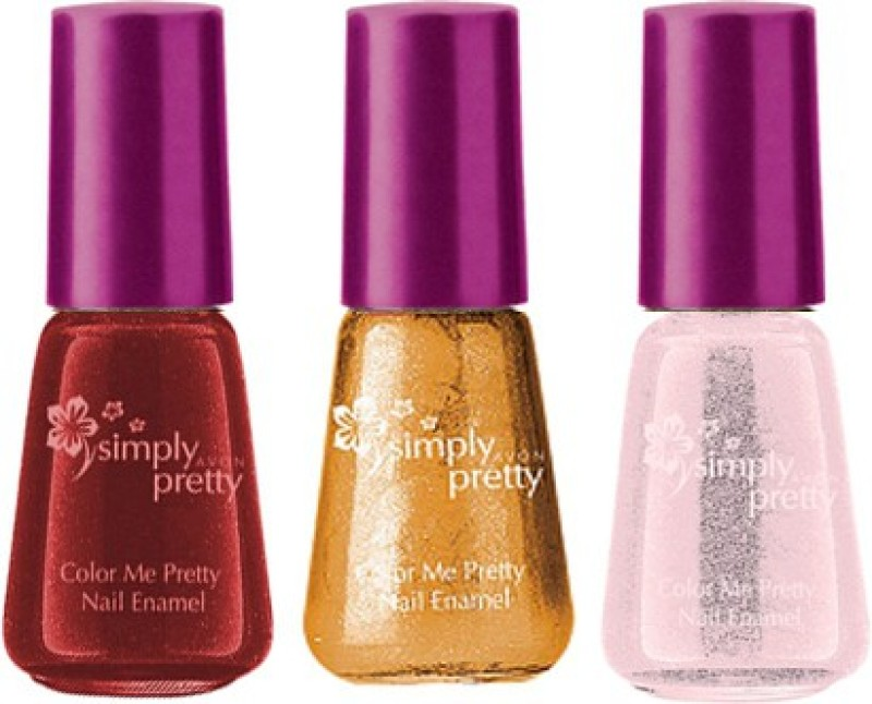Avon Anew Color Me Pretty Nail Enamel (set of 3) ballerina-lucious-golden(Pack of 3)