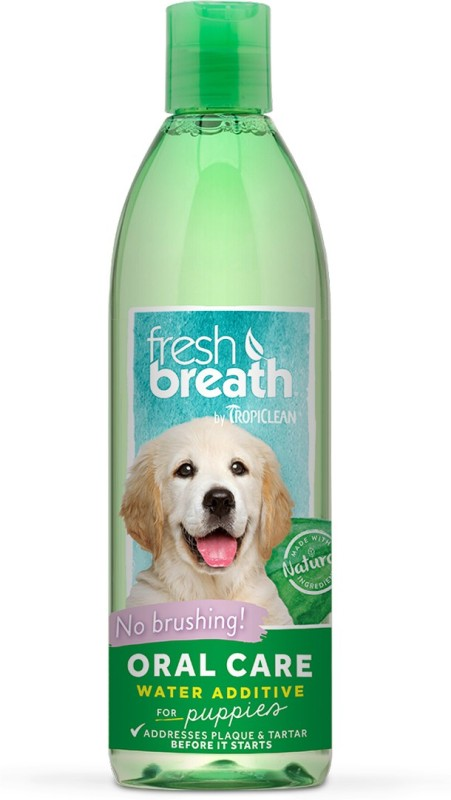 Tropiclean Fresh Breath Puppy Water Additive Dental Care Mint Cologne(475 ml)
