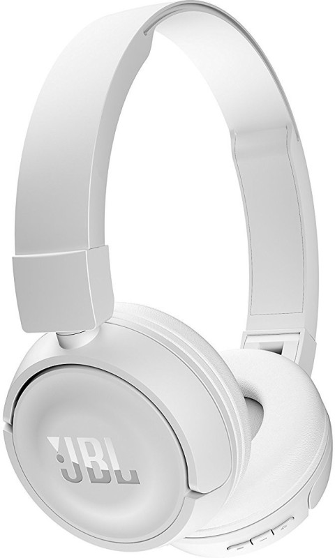 JBL T450BT Pure Bass Bluetooth Headset with Mic(White, On the Ear)