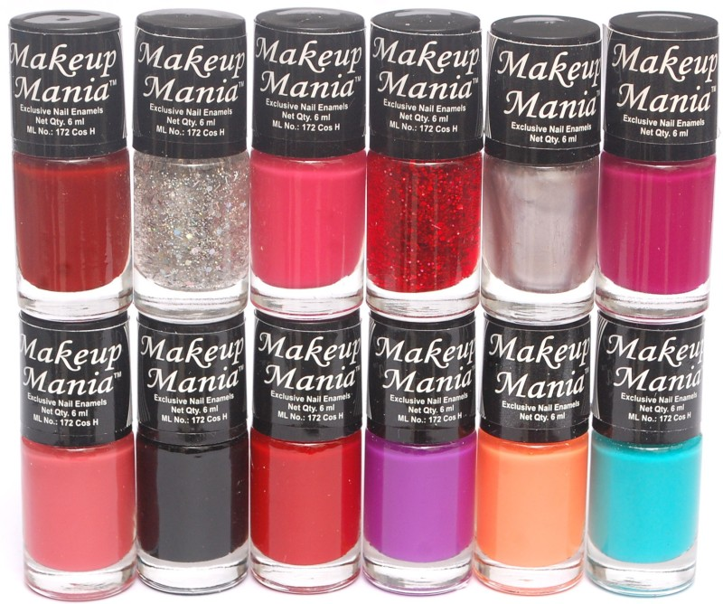 Makeup Mania Exclusive Nail Polish Multicolor(Pack of 12)