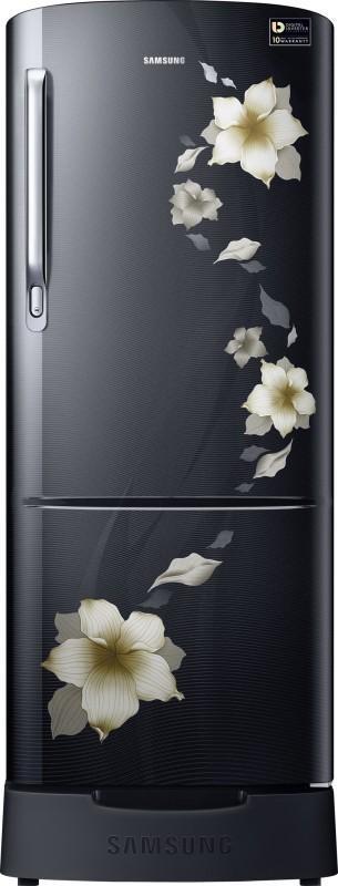 Samsung 212 L Direct Cool Single Door Refrigerator(Star Flower Black,...